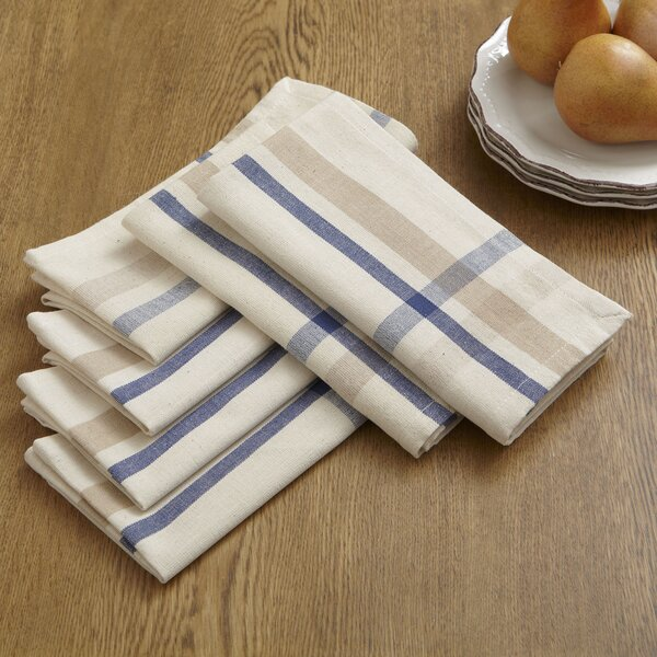 Cece Striped Napkins (Set of 6) by Birch Lane™