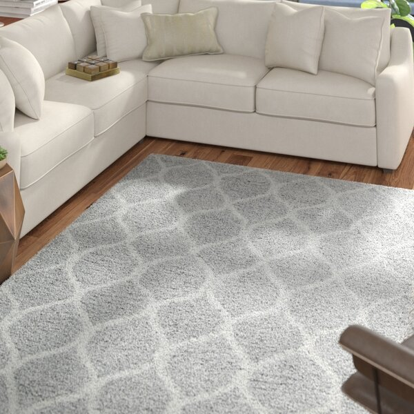 Searcy Hand-Tufted Gray Area Rug by Mercury Row