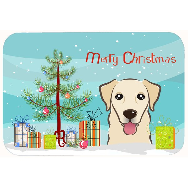 Christmas Tree and Retriever Kitchen/Bath Mat