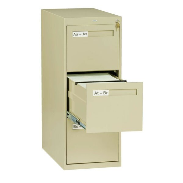 3 Drawer Vertical Letter Size File Cabinet by Tennsco Corp.