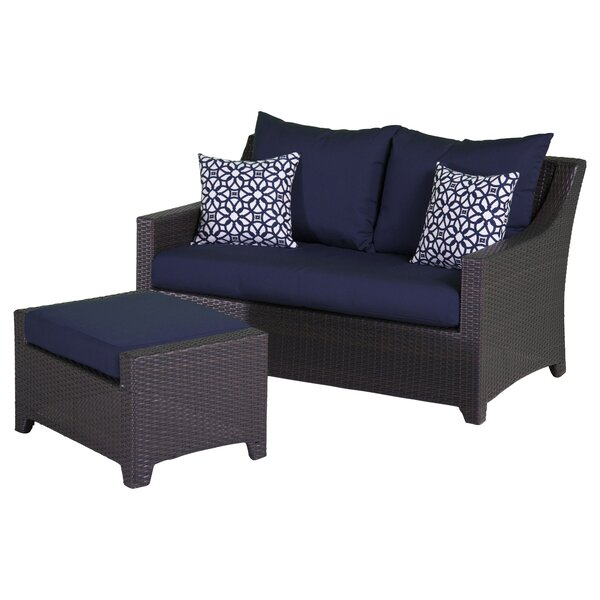Northridge Loveseat with Cushions by Three Posts