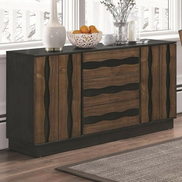 Payeur Wooden Binate Dining Sideboard by Union Rustic
