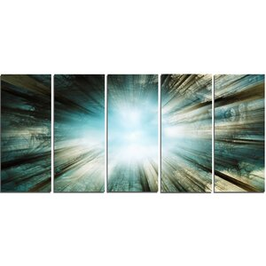 Light from Sky 5 Piece Wall Art on Wrapped Canvas Set by Design Art