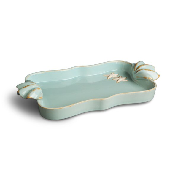 Palm Cove Vanity Bathroom Accessory Tray by Rosecliff Heights