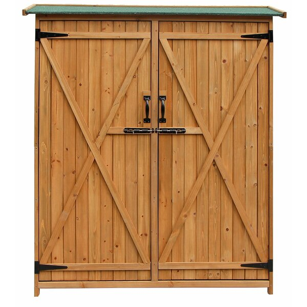 4 ft. 7 in. W x 1 ft. 8 in. D Wooden Vertical Tool Shed by Merax