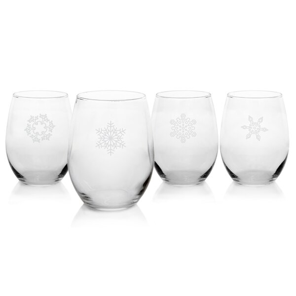 Holiday Stemless White Wine Glass (Set of 4) by Cathys Concepts