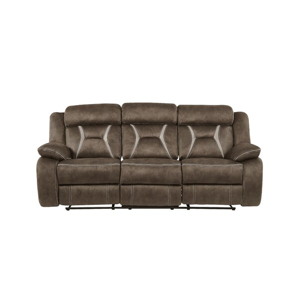 In Vogue Mateas Stitched Fabric Reclining Sofa by Red Barrel Studio by Red Barrel Studio