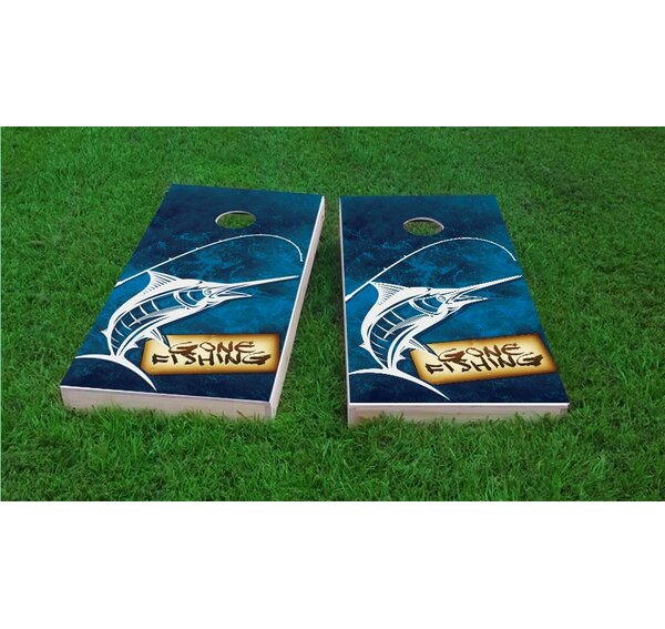 Gone Fishing Cornhole Game Set by Custom Cornhole Boards