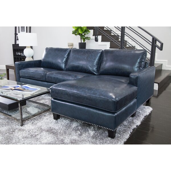 Samatha Leather Right Hand Facing Sectional by Darby Home Co