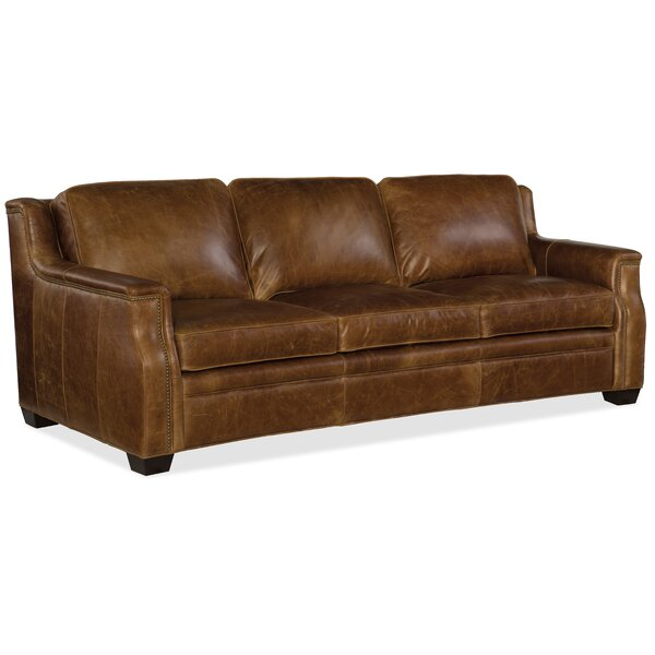 Yates Leather Sofa by Hooker Furniture