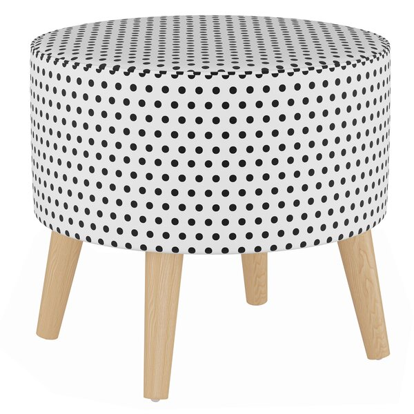 Butterfield Round Ottoman with Splayed Legs by Wrought Studio
