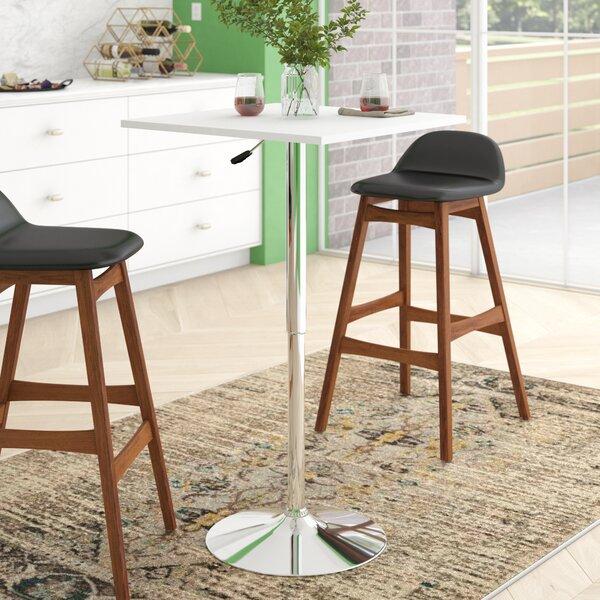 Noemi Square Adjustable Pub Table by Orren Ellis