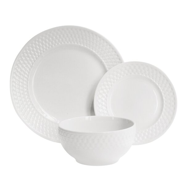 Cervantez Basket Weave 12 Piece Dinnerware Set, Service for 4 by House of Hampton