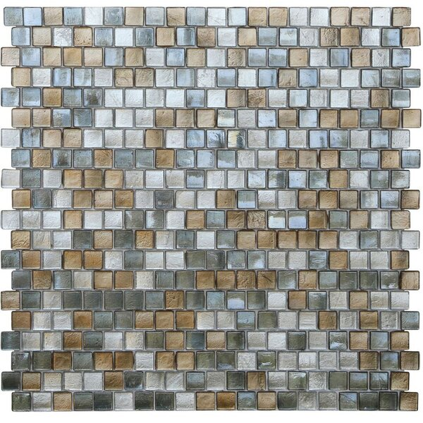 Opal 0.63 x 0.63Glass Mosaic Tile in Gatsby by Kellani