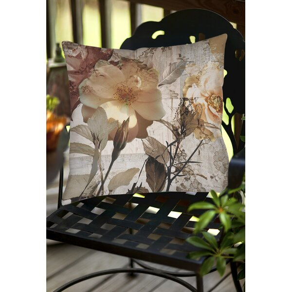 Square Floral Indoor/Outdoor Throw Pillow by East Urban Home