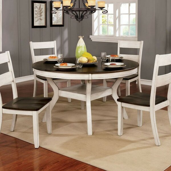 Duggan Transitional Round Solid Wood Dining Table by Gracie Oaks