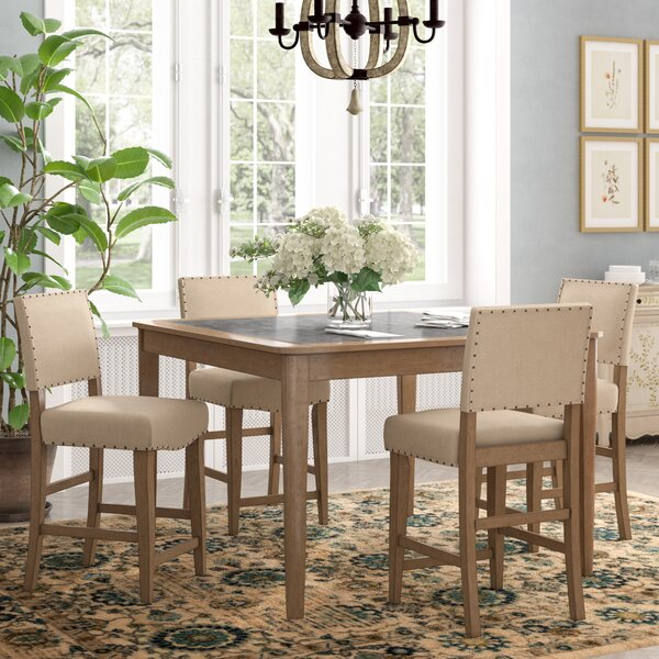 Kennemer 5 Piece Dining Set by Three Posts