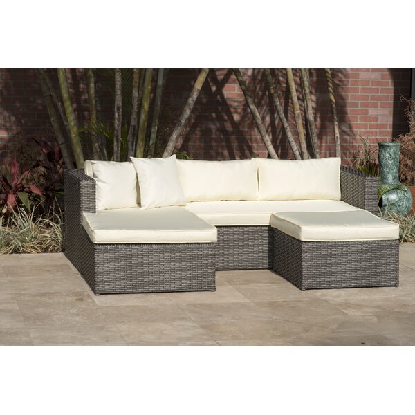 Voyles 3 Piece Sectional Seating Group with Cushions by Breakwater Bay