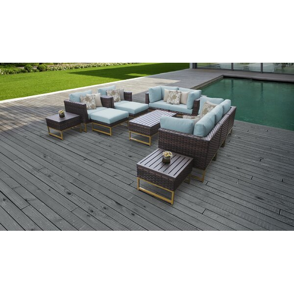 Barcelona 12 Piece Sectional Seating Group with Cushions by TK Classics