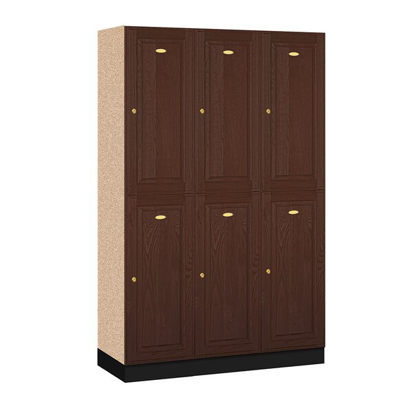 2 Tier 3 Wide Gym And Locker Room Locker By Salsbury Industries.