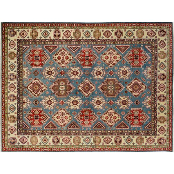 Baldwin Park Hand-Knotted Wool Blue/Ivory Area Rug by Bloomsbury Market