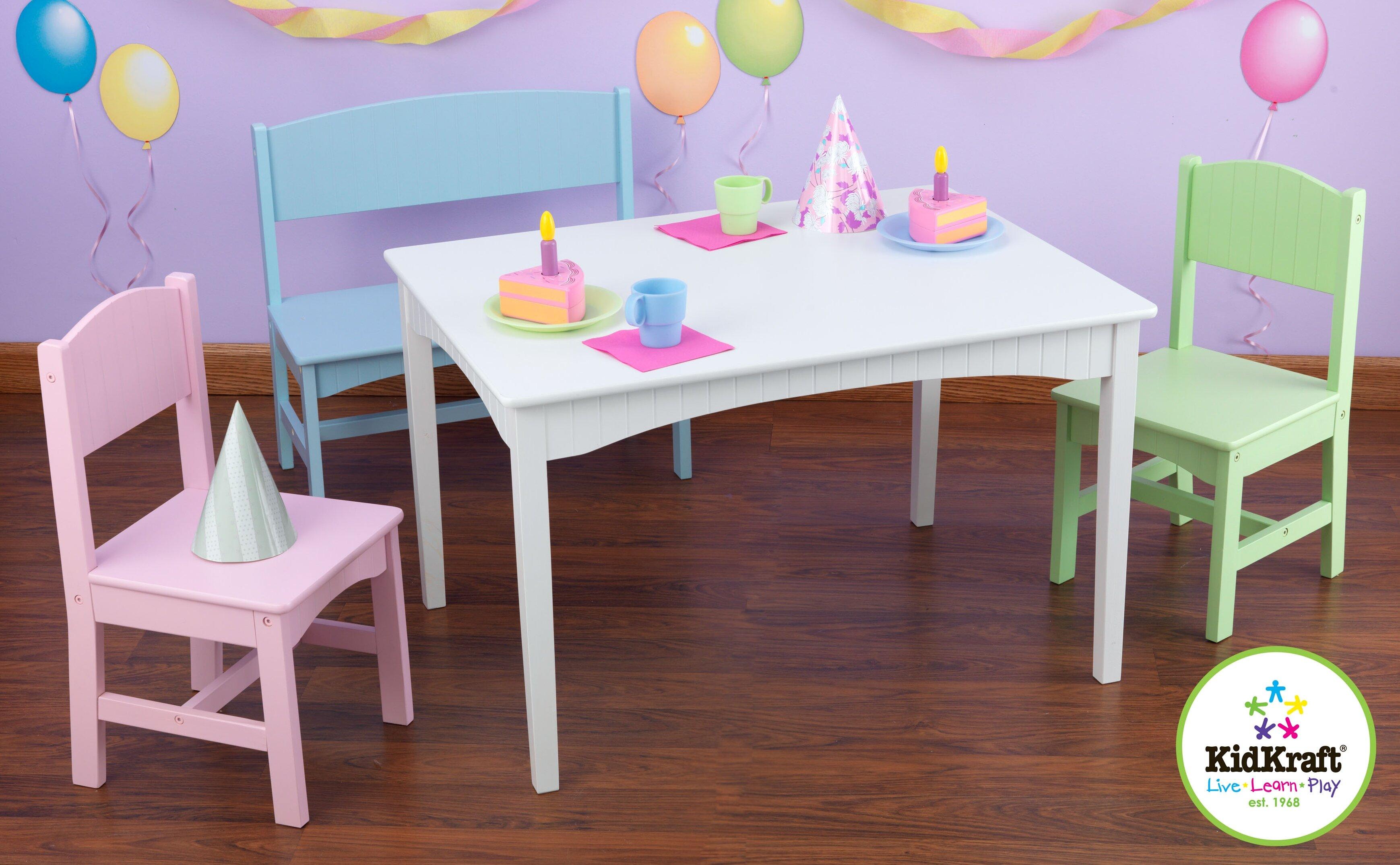 Awesome KidKraft Nantucket Kids 4 Piece Table And Chair Set U0026 Reviews | Wayfair