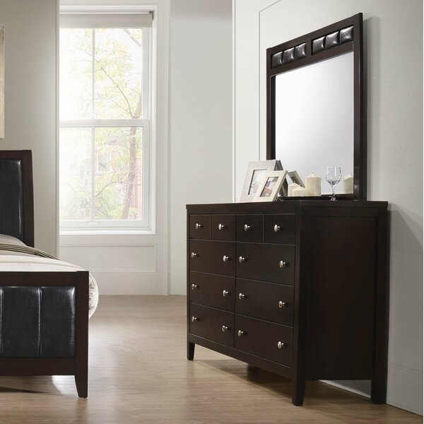 Conrad 8 Drawer Double Dresser with Mirror by Red Barrel Studio