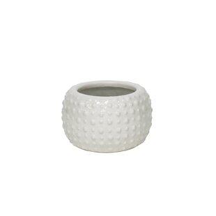 Lavinia White Decorative Ceramic Pot Planter