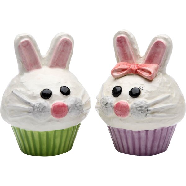 Bunny Cupcake Salt & Pepper Set by Cosmos Gifts
