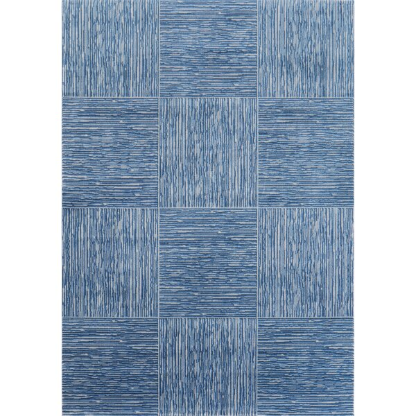 Henriksen Gray/Blue Area Rug by Winston Porter