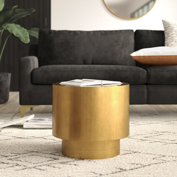 Eley Drum End Table By Mercury Row