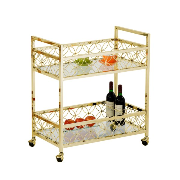 Maone Rolling Bar Cart by Rosdorf Park