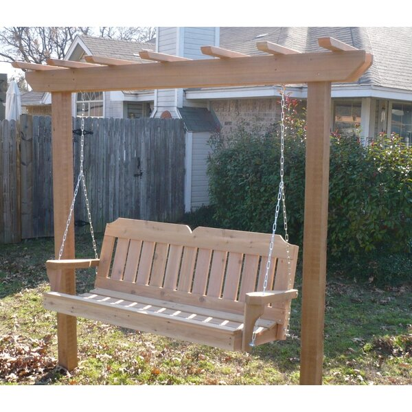 Donath Cedar Arbor Porch Swing With Stand by August Grove August Grove