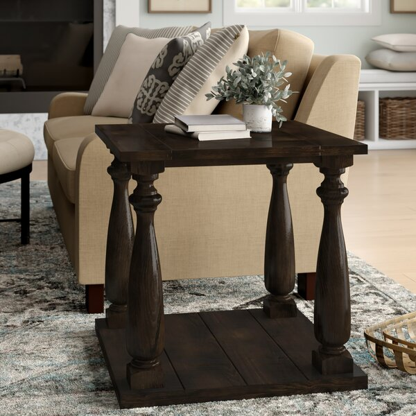 Calila Transitional Floor Shelf End Table with Storage by Canora Grey Canora Grey