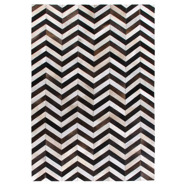 Natural Hide Hand-Tufted Cowhide Brown/Black/Ivory Area Rug by Exquisite Rugs