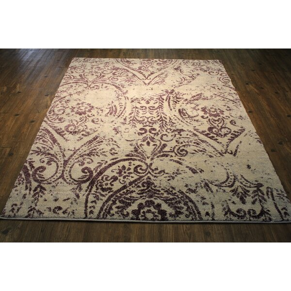 Lansdown Persian Lavender/Ivory Area Rug by One Allium Way
