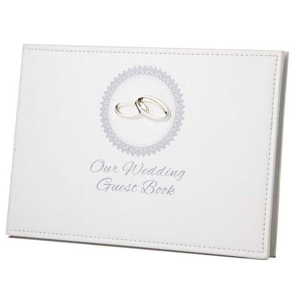 Wedding Guest Book Ring Icon and Engraving Plate Album by Winston Porter