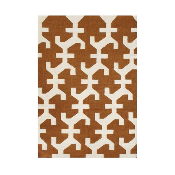 Willamina Hand-Tufted Bronze/Beige Area Rug by The Conestoga Trading Co.