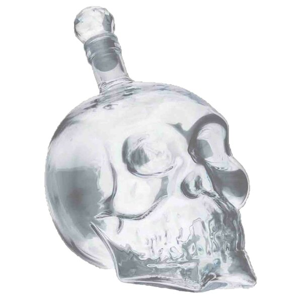 Skull Glass Decanter 25 oz. Beverage Dispenser by Brilliant