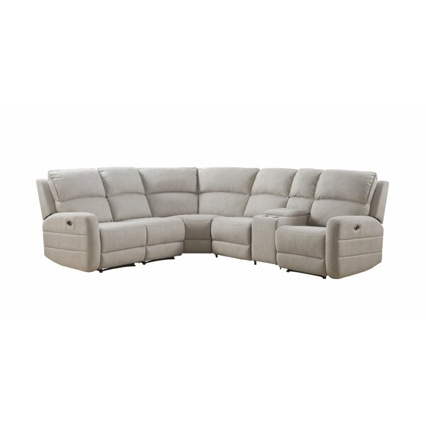 Hickok Symmetrical Power Motion Symmetrical Reclining Sectional by Red Barrel Studio