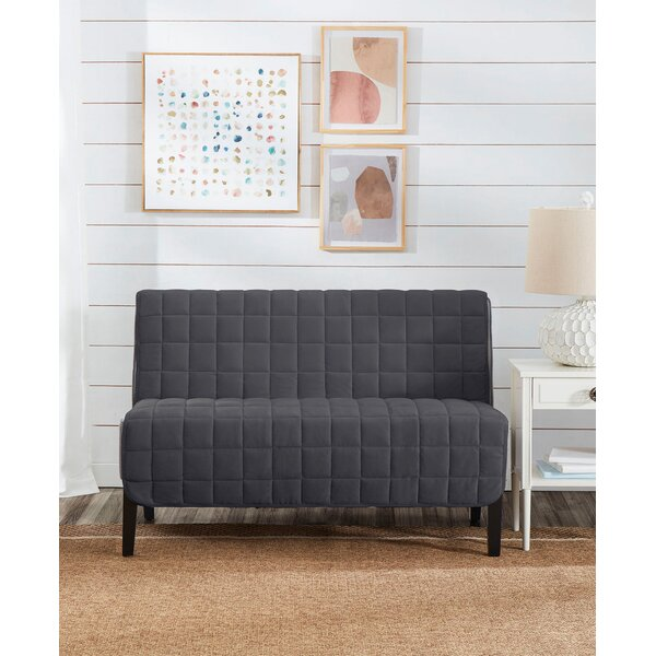 Deep Pile Box Cushion Loveseat Slipcover By Sure Fit