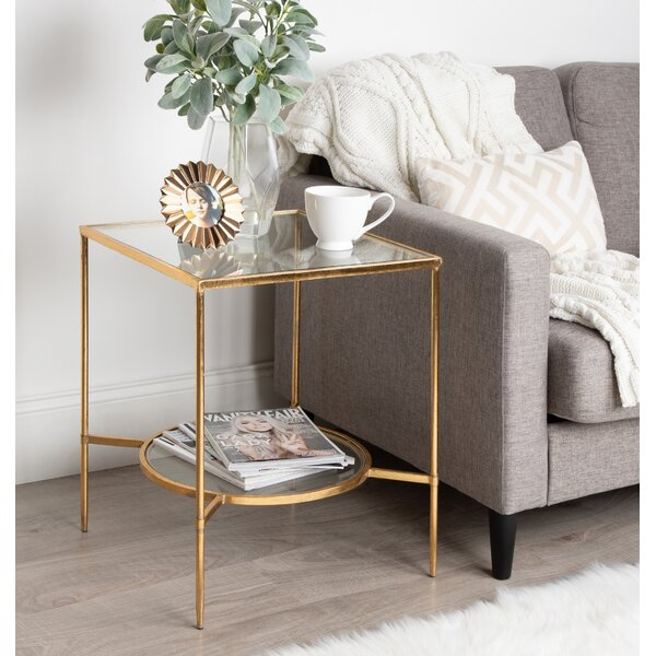 Liev End Table with Shelf by Mercer41