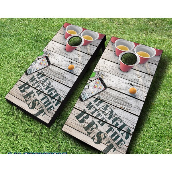 10 Piece Hangin with the Best Cornhole Set by AJJ Cornhole