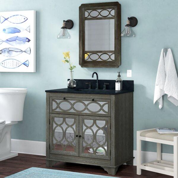 Shaughan Solid Elm 36 Single Bathroom Vanity Set with Mirror by Highland Dunes