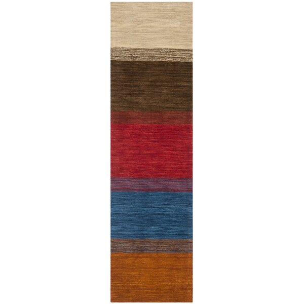 Bolick Red/Green Area Rug by Wrought Studio