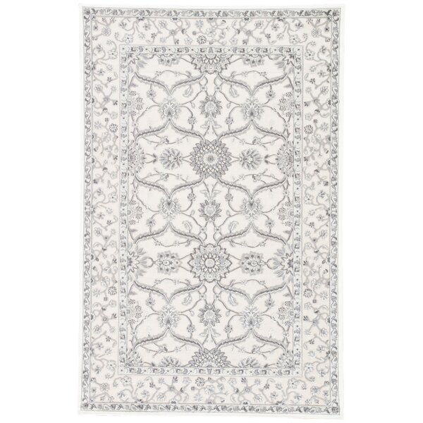 Ada Ivory/Gray Area Rug by Charlton Home