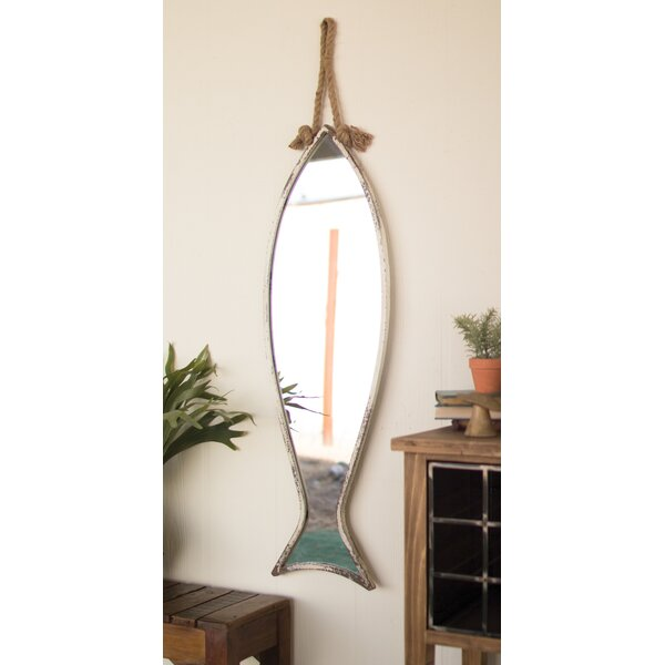 Vertical Fish Accent Mirror by Rosecliff Heights