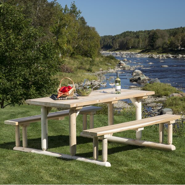 Hooper Riverside Picnic Table by Loon Peak