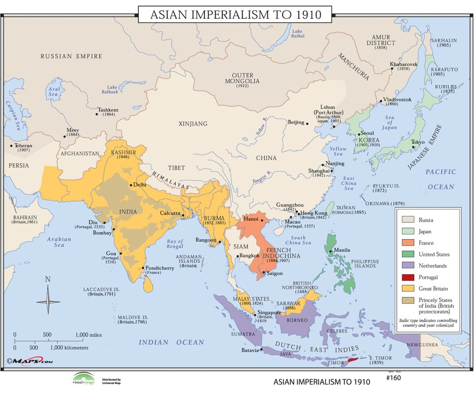 Universal map world history wall maps asian imperialism world history wall maps asian imperialism gumiabroncs Gallery
