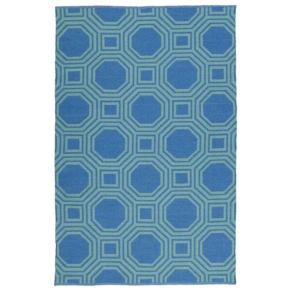 Littleton Green/Blue Indoor/Outdoor Area Rug by Wrought Studio